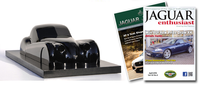 DE CLERCQ sculpture Jaguar XK 120